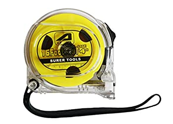 JH-546 Professional PowerLock 16-Foot by 3/4-Inch Measure Tape Transparent Case