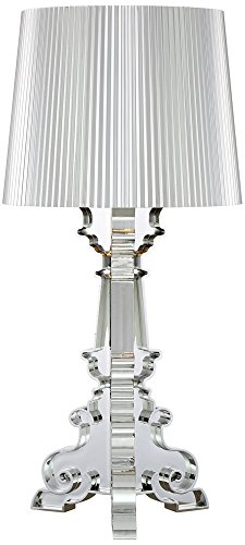 Possini Euro Baroque Silver Accent Table (Acrylic Accent Table Lamp)
