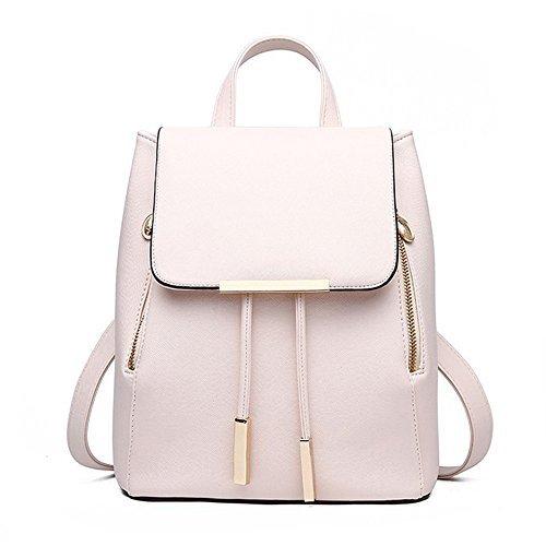 Women Leather Shoulder Bag Travel Camping Backpacks Schoolbags (Mini Backpack)