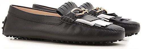 Chain Donna Loafers Tod's Fringe And Nero qwgw4EB