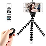 Kamisafe Mini Selfie Stick Phone Tripod Stand with Remote Control & Phone Clip Compatible with iPhone Xs MAX XR X 8P 7P 6S Galaxy S9 Plus S8 Note 8 Logitech Webcam C920 C922 C930e C615