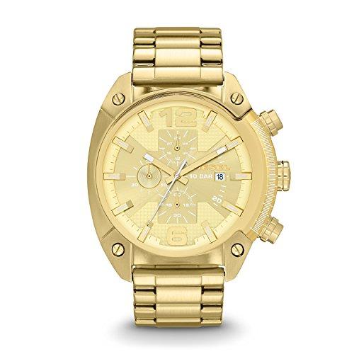 Diesel Men's DZ4299 Overflow Gold-Tone Stainless Steel Watch