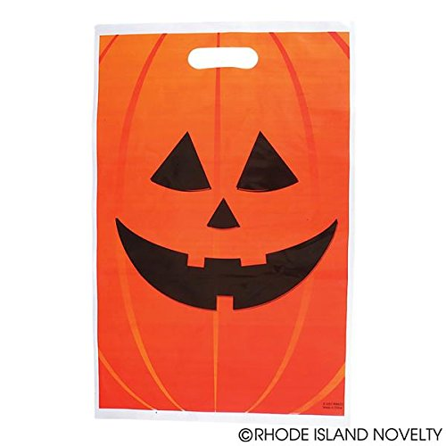 Jack O Lantern Trick Or Treat Bags; 50 (Trick Or Treat Halloween Game)