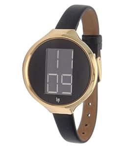 Lip Style 1075612 - Reloj digital de cuarzo para mujer con correa de piel, color negro