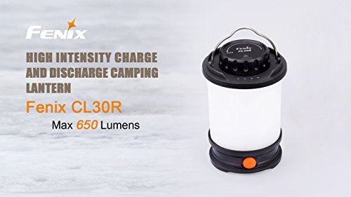 Fenix CL30R LED Camping Lantern 650 Lumen with 3 X 18650 rechargeable batteries and LegionArms USB charging cord by Fenix (Image #1)