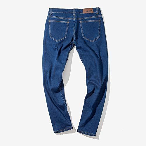 Strappati Hip Jiameng Scuro Cotone hop Lavoro Da Blu Casuale Pantaloni Denim Del Jeans Casual Uomo Di rvTtZqv