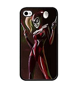 CooJedy Girly Superhero DC Comics Hard Funda Case Cover for Apple IPhone 4 4S - Harley Quinn