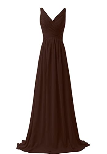 ThaliaDress Women V Neck A Line Formal Evening Bridesmaid Dress Prom Gown T015LF