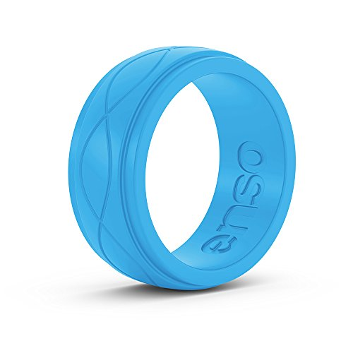 Enso Rings Mens Infinity Silicone Ring | The Premium Comfortable Fashion Forward Silicone Ring | Hypoallergenic Medical Grade Silicone | Lifetime | Commit to What You Love