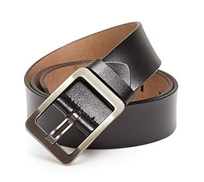 ENTESI Unisex Women Men Genuine Leather Casual Dress Belt [3.8CM Width]