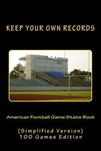 American Football Game Stats Book: Keep Your Own Records (Simplified Version) (KYOR with Football Team Colors) (Volume 4) pdf