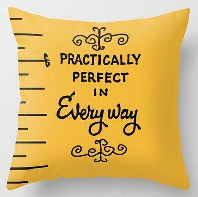 (Unique Style Perfect In Every Way Poppins Measuring Tape Personalized Throw Pillow Cover Home Decorative Throw Pillowcase Square Zip Cover 18x18 Inch)