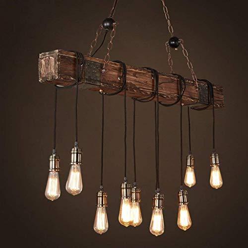 Luz colgante de techo vintage industrial, lampara de estilo industrial Iluminacion colgante Es Adecuado para Cocina, Cafeteria, Bar, mesa de comedor (10 cabezas)