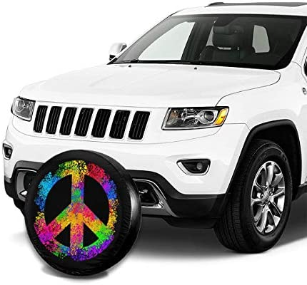 14 Inch for Diameter 23-27 Wheel Covers Sun Protector Waterproof, Delerain Diamond Spare Tire Covers for RV Jeep Trailer SUV Truck and Many Vehicle