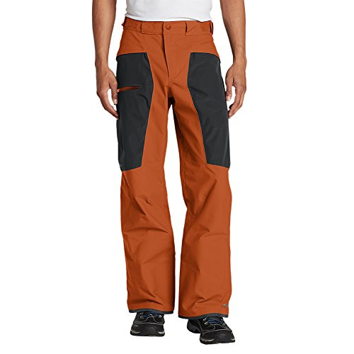 Eddie Bauer Mens Telemetry Freeride Pants Vibrant Orange (Orange)