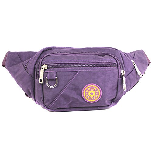 Travel Money Unisex Wallet YDezire® Belt Waist Fanny Ticket Pouch Passport Bag Bum Purple Pack 121 Festival 4nxWnwF