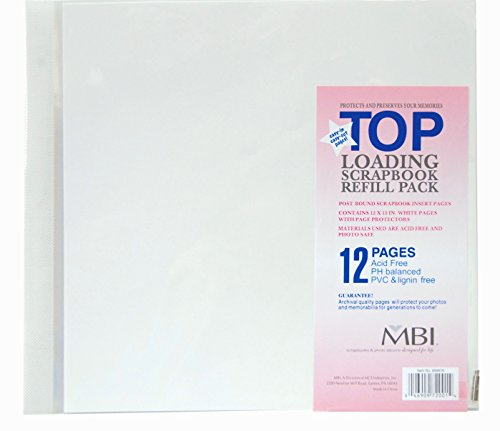 MCS MBI 12x12 Inch Scrapbook Expansion Page Refills, 6 Count (899676) 12 -