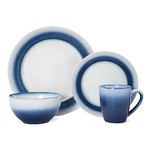 (Pfaltzgraff Eclipse Blue 16-Piece Stoneware Round Dinnerware Set)