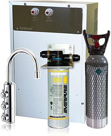 Purificador agua enfriador carbonatador con Everpure de bajo fregadero-Agua gasata refrigerata amb. Rub. 3VÃas 4kg Co: Amazon.es: Bricolaje y herramientas