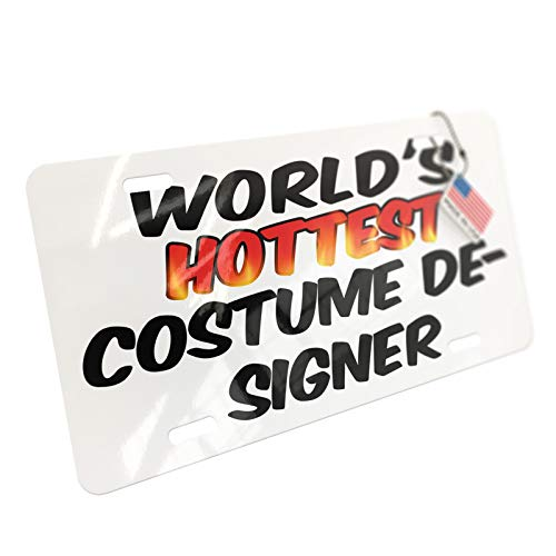 NEONBLOND Worlds Hottest Costume Designer Aluminum License Plate