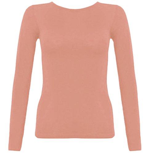 Fashion Fever London Ltd - Camiseta de manga larga - para mujer color carne