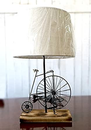 Big wheel bicycle table lamp vintage lamp new home for Bicycle wheel table