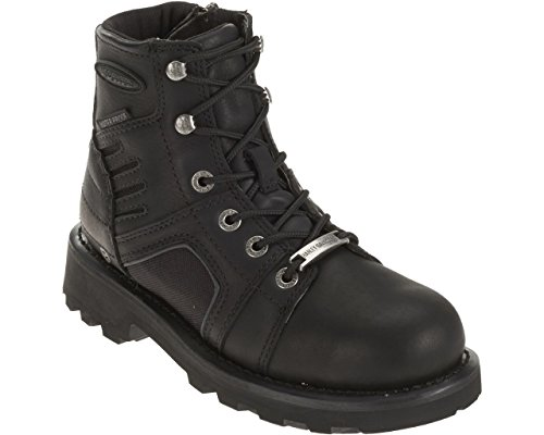 Harley-Davidson Women's Leila FXRG Leather Motorcycle Boots. D87063 (Black, 6.5)