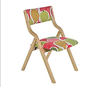 fold up chairs Wood folding chair simple modern home cloth dining chair desk chair back chair  sc 1 st  Amazon.com & Amazon.com: fold up chairs Wood folding chair simple modern home ...
