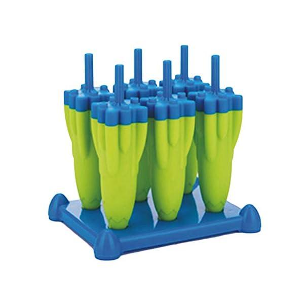 Danigrefinb Rocket - Stampo per cubetti di ghiaccio, 6 scomparti, per budini, gelatine, cubetti di ghiaccio, vaschetta… 5 spesavip