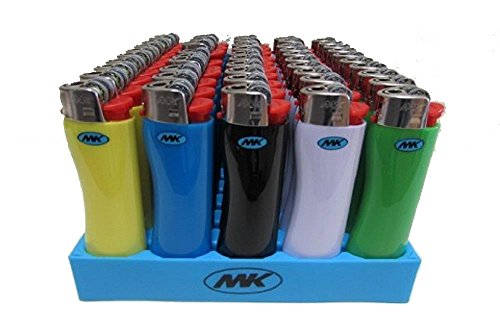 Full Size MK Grip Disposable Cigarette Lighters, All Purpose (50)