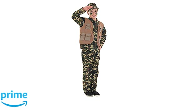 Fun Shack Verde Soldado del Ejército Disfraz para Niños - S ...
