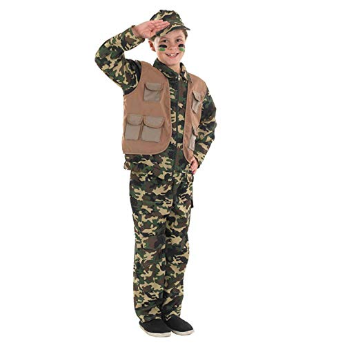 (fun shack FNK2978L-US Boys Army Costume Childrens Camo Military Uniform -)