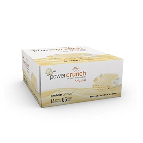 - Power Crunch Protein Energy Bar, French Vanilla Creme, 12 pk 1.4 oz (40 g)