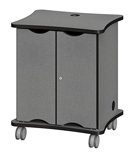 Fleetwood 28.2500.249000 -CdleLib Solutions Tablet Cart Holds up to 32 Tablets in Cradle of Liberty Laminate