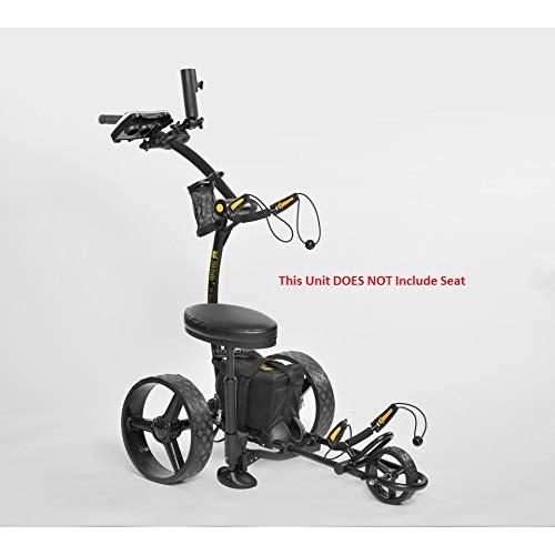 Bat-Caddy X4 Sport Electric Push Cart w/ Free Accessory Kit, 35Ah, Black