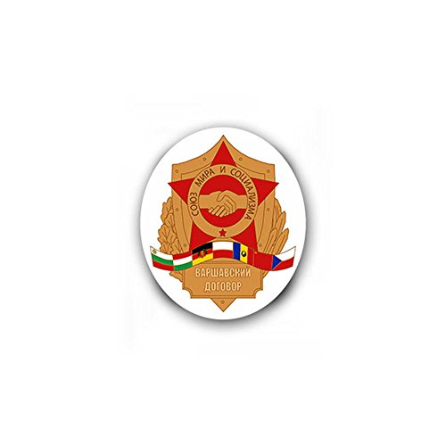 - Warsaw Pact WVO Poland Soviet Union German Democratic Republic DDR Czech Bulgaria crest military badge emblem for Audi A3 BMW VW Golf GTI Mercedes (6x7cm) - Sticker Wall Decoration
