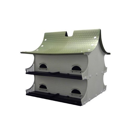 S&K Manufacturing Great 8 Purple Martin House, 20″ L X 19.75″ W X 21.5″ H, Standard, White Review