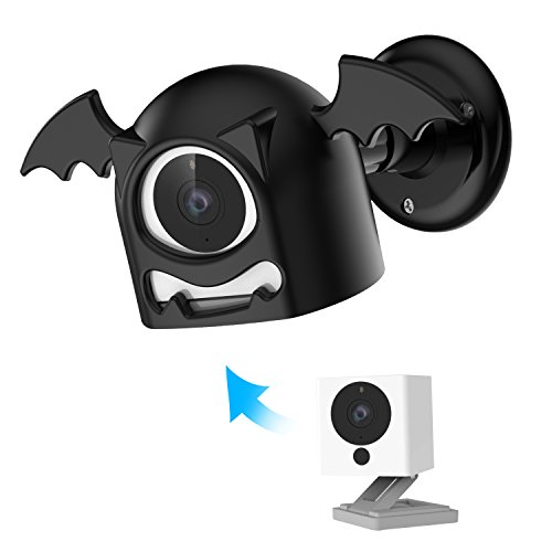 Wall Mount Cover for Wyze Cam 1080p HD Camera and iSmart Alarm Spot Camera, 360 Degree Swivel Bat Designed Indoor and Outdoor Wall Mount Bracket
