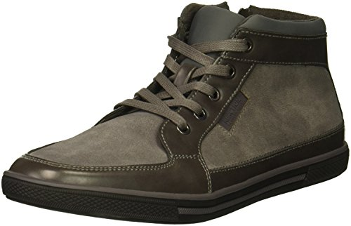 Reaction Kenneth Cole Center Mid Neoprene Zip Sneaker Grey