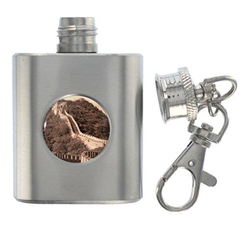 1StopShops Great Wall of China Metal Miniature Flask - China Miniature