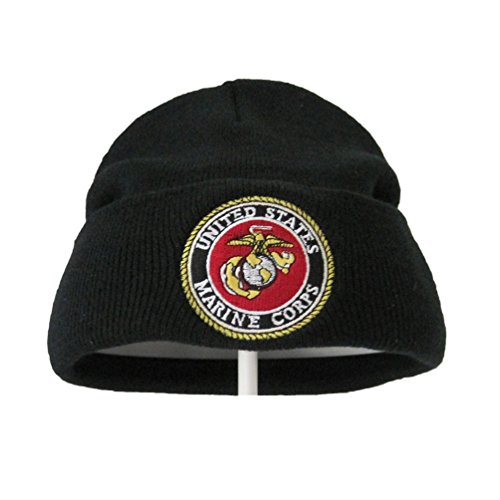 WOWMAR Beanie Hat Unisex Skull toboggan Cuffed Plain Knit Cap United States Marine Corps Logo For - Wearhouse Orange Men's