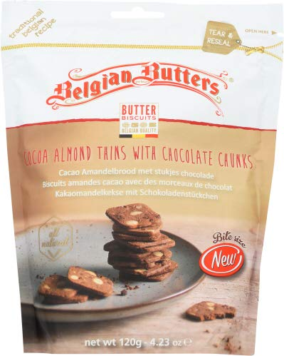 Belgian Butters Mini Coconut Almond Chocolate Cookies 4.23 OZ (Pack of 12)
