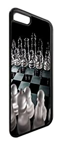 Glass Chess Print Design-TM Apple iPhone 6 Plus, 6s Plus Universal Black Plastic Phone Case Made in the USA
