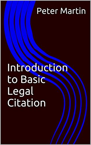 Introduction to Basic Legal Citation