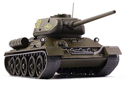 T-34-85 1943 Year - Legendary Soviet Medium Tank WWII - 1/43 Scale Collectible Model Vehicle - Russian Tank ()