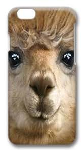 iPhone 6 Case,Big Face Alpaca Custom PC Hard Case Cover for iPhone 6 3D