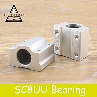 Impresora 3D 4 piezas/lote SC8UU SCS8UU 8 mm movimiento lineal ...