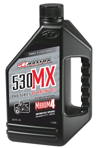 Maxima (90901) 530MX 5W-30 Synthetic 4T MX/Off-Road Racing Motorcycle Engine Oil - 1 Liter Bottle -