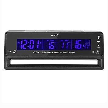 OFKPO Coche Voltaje Digital LCD Termómetro - para coche