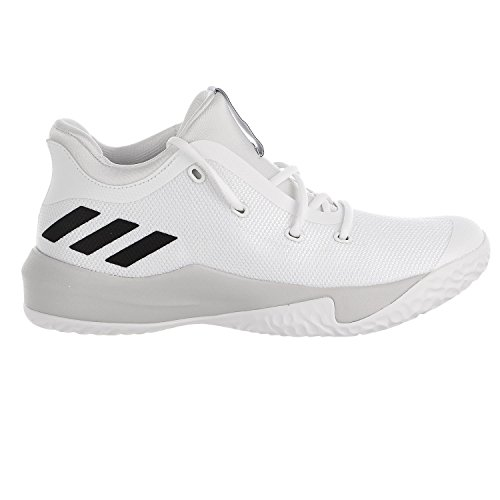 Adidas Basketball Sneakers - adidas Originals Men's Rise up 2 Basketball Shoe, White/Light Solid Grey Heather/Core Black, 8 M US